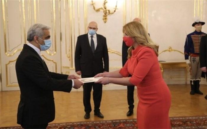 سفیر ایران استوارنامه اش را به رییس جمهوری اسلواکی تقدیم کرد